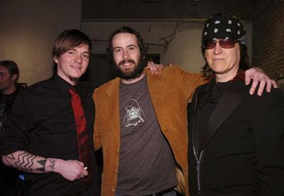 "Cyril Helnwein,Jason Lee and Gottfried Helnwein Cyril Helnwein's artshow ""The Ethereal"", March 2005"