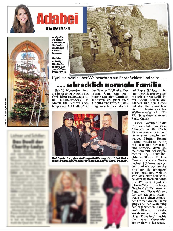 Kronen Zeitung, Adabei, interview and article with Cyril Helnwein