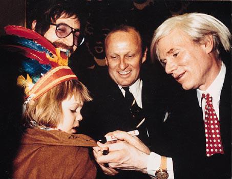 Gottfried Helnwein, Cyril Helnwein and Andy Warhol, 1983